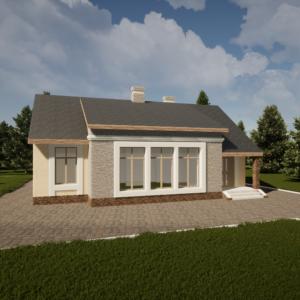 Одноэтажный монолитный дом 125м2